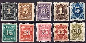 1881 - US Revenue Telegraph & Rapid Tel. Tax Stamps Lot of 10