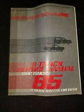 1985 Gmc Trucks S-Truck Service Manual