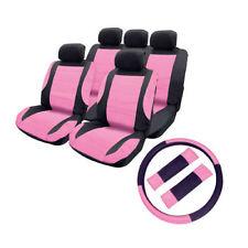 cubreasientos para Coche Efecto De Cuero + almohadillas cinturón seguridad +