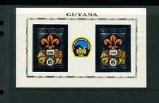 Guyana 1992 Scouts Chess Unlisted Gold Foil Sheets Michel BL 236-37 IMPERF var