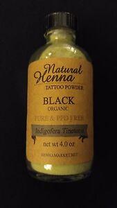 Black HENNA TATTOO POWDER Mehndi Art Design Best Quality Organic All Natural
