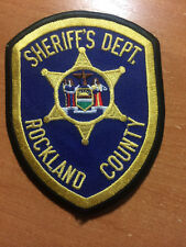 PATCH POLICE SHERIFF ROCKLAND COUNTY - NY NEW YORK state