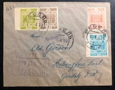 1919 Tallin Estonia Registered Cover To Helsinki Finland Sc#1-4