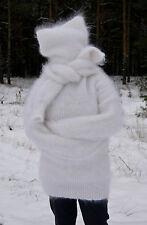 Sweater Turtle-nec Longhair 100% Goat Down Angora Cashmere Mohair UNISEX FETISH