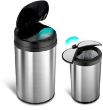 Nine Stars Motion Sensor Trash Can Waste Garbage Stainless Steel Touchless