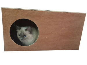 House Hutch Tunnel Shelter Hideout Hide Hideaway Playhouse for Cats 24''x12'x10'