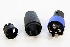 1 x 4-Pole Male Pro Speakon Connector Head Line Plug for Cable not NEUTRIK NL4FC