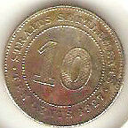 Offer>1927 Straits Settlements KGV 10 cents very high grade. details! scare??