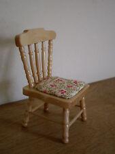 Dollshouse miniature ~ * VINTAGE * CREAM & GREEN FLORAL ~ Chair