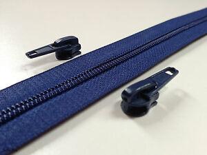 endlos Reißverschluss 5mm + Schieber Marineblau`G.Preis0,65 €/m´