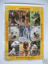 ****** TIMBRES CHIENS : BLOC OBLITERE DU NIGER / STAMPS DOGS  ******