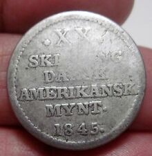 1845 (DANISH WEST INDIES) (XX) 20 SKILLING (SILVER) ---RARE YEAR----