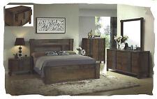Ivan 6 Piece KING Size Antique Walnut Hardwood Bedroom Suite - BRAND NEW