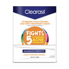 4 Pack Clearasil Stubborn Acne Control 5 In 1 Spot Treatment Cream 1 Oz