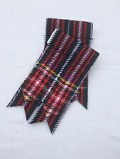Scottish Black Stewart Tartan Kilt Sock Flashes Kilt Hose Flashes Black Stewart