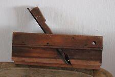 Antiguo cepillo de madera - Plano a moldura - N°8