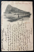 1898 Gibraltar Picture postcard Cover To Manchester England North Front View