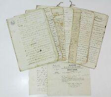 **** BEL ENSEMBLE DE DOCUMENTS D'UN NOTAIRE DE NIMES - FAMILLE PUGET - 1807-1817