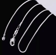 2mm 925 Sterling Silver Snake Chain Necklace 16