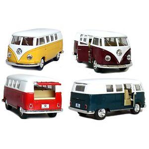 """4PC SET: 5"""" Kinsmart Classic VW 1962 Volkswagen Van Bus Diecast Model Toy 1:32"""