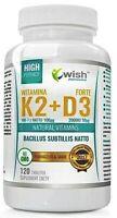 La vitamina K2 MK-7 100mcg + D3 2000IU Menachinone salute delle ossa e supporto