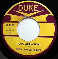 LITTLE JUNIOR PARKER doowop 45 That's Just Alright I'll Learn To Love Again mg11