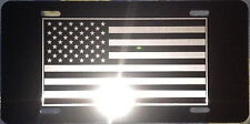 License Plate American Flag Auto Truck car tag Aluminum  Small Flag version