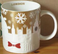Starbucks Wintertasse London Relief Gold, 16oz neu mit SKU-Stick, rare HTF 2014