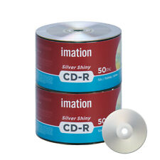 100 Pack Imation CD-R 52X 700MB/80Min Silver Shiny Blank Media Recordable Disc