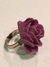 New Tarina Tarantino Flower Picker Purple Rose Adjustable Ring