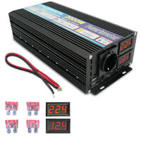 2000W / 4000W Spannungswandler 12V auf 230V Inverter Wechselrichter mit LED USB