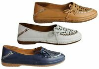 Orizonte Atlantis Womens European Comfortable Soft Leather Flat Shoes - SSA