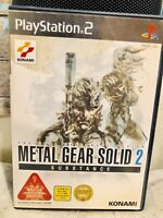 Metal Gear Solid 2 Substance SONY PlayStation PS2 Konami Japan Import Game Vtg