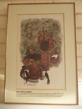 Art Print 'War Lords In Combat' By David Leonard 1979 Tang Dynasty Frame & Mount
