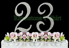 Large Rhinestone NUMBER (23) Cake Topper 23th Birthday Wedding Party Anniversary