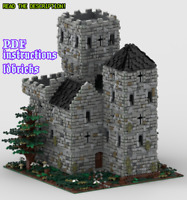 Lego MOC Medieval Forest Castle Custom Model instructions, NO PARTS