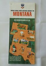 1966 Chevron Road Map & Scenic Guide to Montana In Scenicland USA
