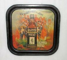 Vintage Old Original Bagpiper Whisky Ad Litho Print Tin Bar Tray Mint Condition