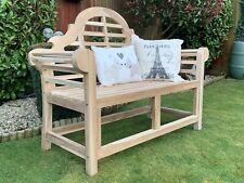 More details for lutyens marlborough garden bench beautiful solid teak patio bbq seating 130cm
