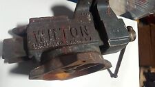"WILTON SCHILLER  VISE PRESS WITH SWIVEL 4 1/2"" , LOT OF LIFE LEFT, A GOOD DEAL"