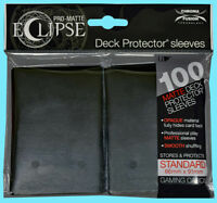 100 ULTRA PRO ECLIPSE JET BLACK STANDARD PRO-MATTE DECK PROTECTOR Card Sleeves