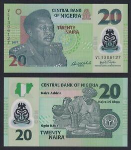 Nigeria  20 naira 2007 (Polymer) FDS/UNC  C-09