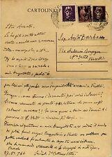 RE DI MAGGIO-Intero postale 50c+50c(538)+2L(553)- Vercelli 28.5.1946