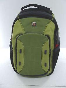 """NW/OT SwissGear 16"""" Laptop Backpack - Green/Gray/Black"""