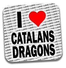 Me encanta catalanes Dragones Bebidas Posavasos-Regalo-Cumpleaños-Stocking Filler