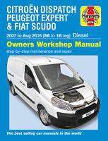 Citroen Dispatch/Peugeot Expert/Fiat Scudo 2007-2016 Repair Manual