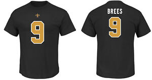 NFL T-Shirt New Orleans Saints Drew Brees 9 Black ER3 Receiver Jersey