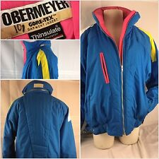 Obermeyer Gore-Tex Ski Jacket Sz 14 Blue Silver Song Pink Worn Twice YGI 33uu