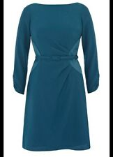 BNWT 🌹Coast 🌹Size 16 Teresse Short Smart Crepe Dress (44 EU) XL New Teal