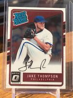 2017 Donruss Optic JAKE THOMPSON Rated ROOKIE AUTO AUTOGRAPH Phillies